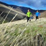 women trail running